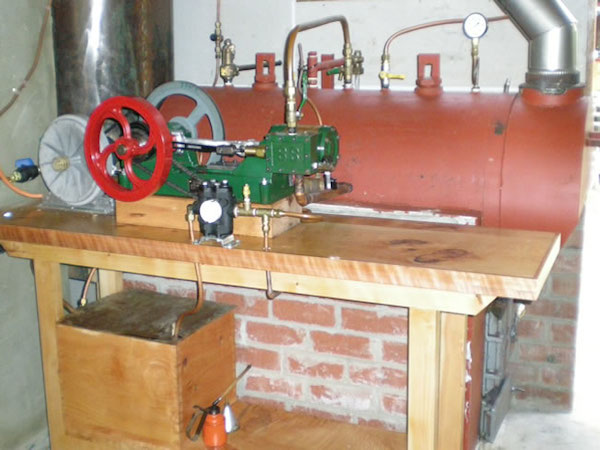 Steam engine generating home power